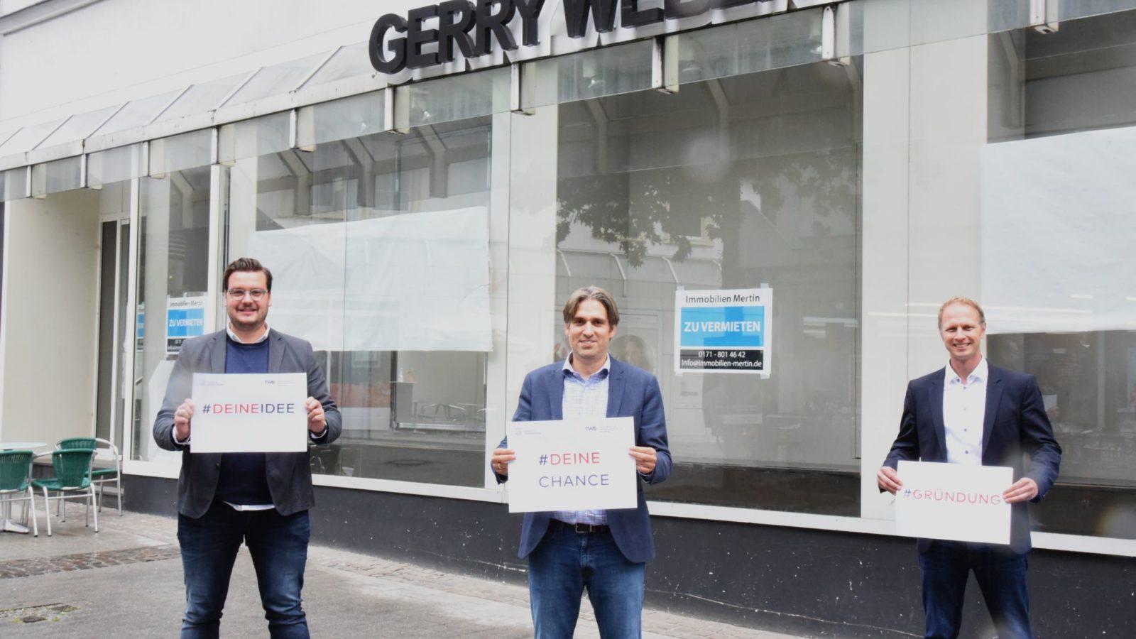 V.l.n.r. Michael Kersting (schwerte Stadtmarketing), Christian Vöcks (stadt Schwerte), Jens Ewald (tws) ©ingo Rous Stadt Schwerte